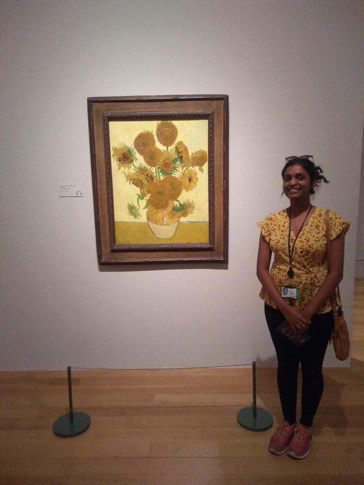At the Van Gogh Exhibit at the Tate Britain