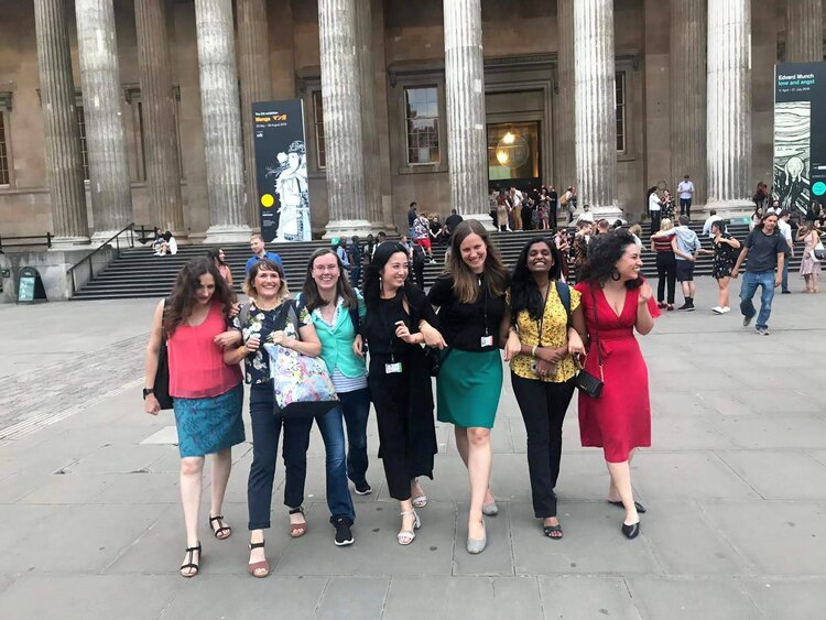 With fellow interns and staff at the British Museum Summer Party