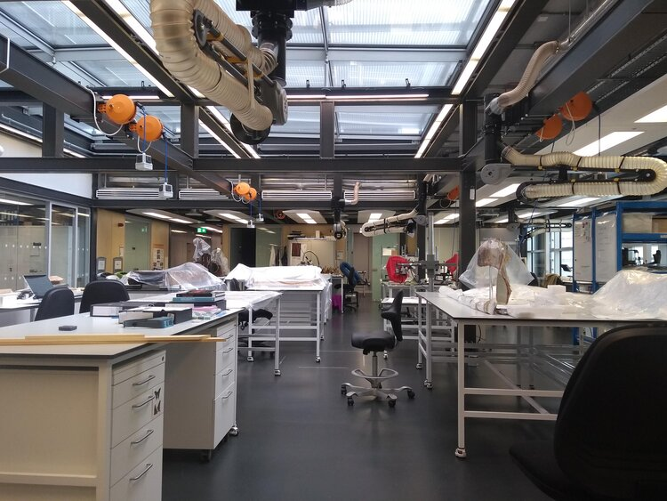 Organics department laboratory